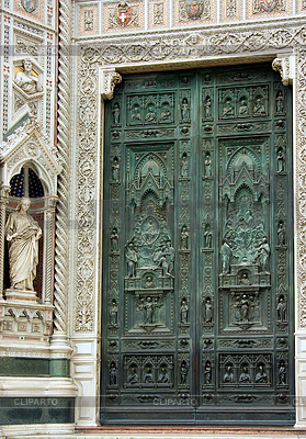 Gate of main Cathedral in Florence | High resolution stock photo |ID 3233067