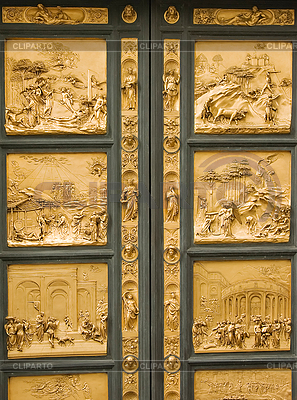 Entrance door to baptistery  | High resolution stock photo |ID 3233494
