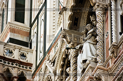 Sculpture of main Cathedral of Florence | High resolution stock photo |ID 3233584