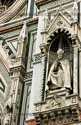 Sculpture of main Cathedral of Florence | High resolution stock photo |ID 3233879