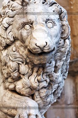 Llion near Palazzo Vecchio | High resolution stock photo |ID 3346397