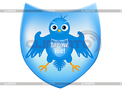 Vogel auf dem Wappenschild | Stock Vektorgrafik |ID 3083000