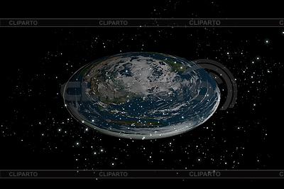扁平地球的行星在恒星内部 | 高分辨率插图 |ID 3083004