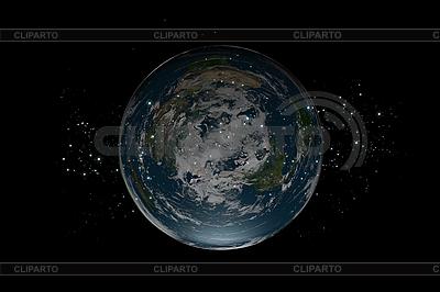 Planeta Tierra plana dentro de las estrellas   Ilustración de alta resolución  ID 3083006