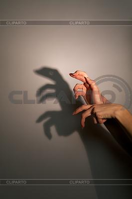 Silhouette - Schatten einer Eidechse | Foto mit hoher Auflösung |ID 3128222