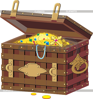 Chest with treasures | Stock Vector Graphics |ID 3305109