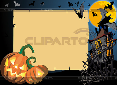 Halloween background with frame | Stock Vector Graphics |ID 3305179