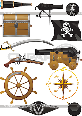 Pirate set | Stock Vector Graphics |ID 3305260