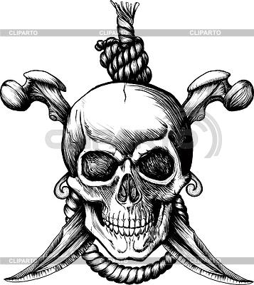 Jolly Roger cráneo | Ilustración vectorial de stock |ID 3305298