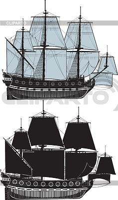Two sail ships | Stock Vector Graphics |ID 3305314