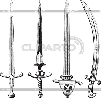 Different set of swords | Stock Vector Graphics |ID 3305337
