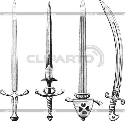 不同的一套剑 | 向量插图 |ID 3305337