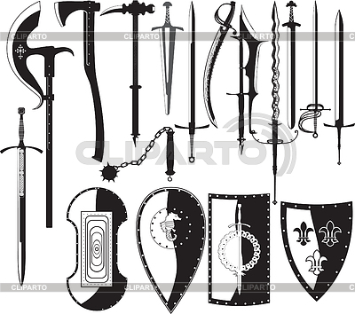 Silhouettes of weapons | Stock Vector Graphics |ID 3305341