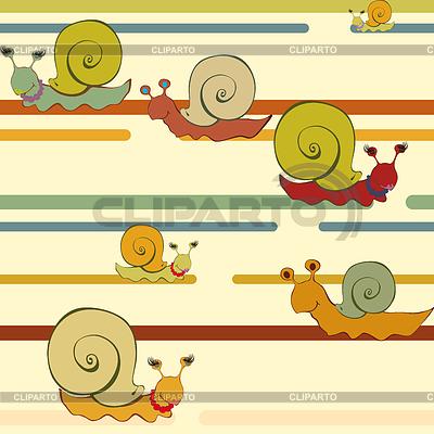 레트로 스타일의 달팽이 배경 | 벡터 클립 아트 |ID 3305366