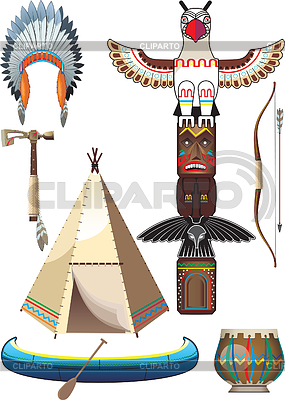 American indian set | Stock Vector Graphics |ID 3305380