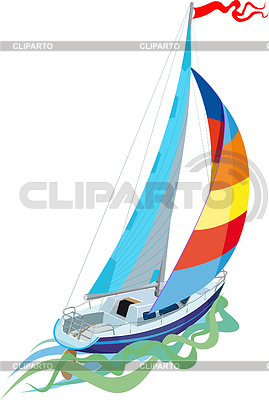Sailing - sail yacht | Stock Vector Graphics |ID 3305395