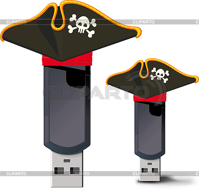 Pirate USB flash drive | Stock Vector Graphics |ID 3328477