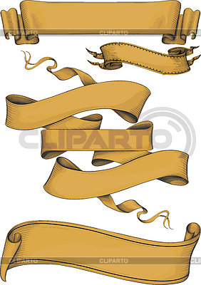 Ribbon banners engravin style | Stock Vector Graphics |ID 3329277