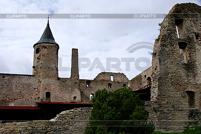 Walls and tower in Haapsalu | High resolution stock photo |ID 3083886