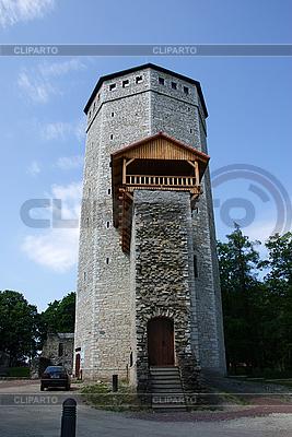 Zamkowa wieża w Paide   Foto stockowe wysokiej rozdzielczości  ID 3087587
