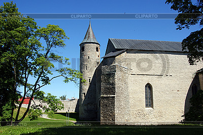 Old tower and walls in Haapsalu | High resolution stock photo |ID 3110186