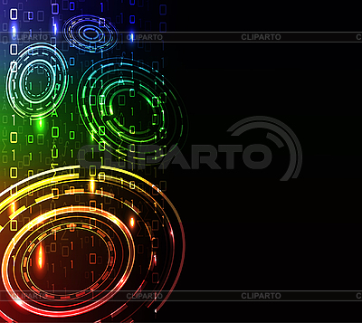 Stilisierter abstrakter Hintergrund mit Kreisen | Illustration mit hoher Auflösung |ID 3083663
