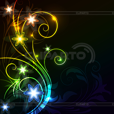 Abstract fantasy floral background  | Stock Vector Graphics |ID 3087736