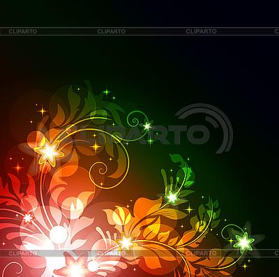 发光的花卉背景 | 向量插图 |ID 3169372