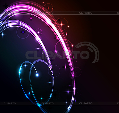 Stylized abstract background with glowing lines | Stock Vector Graphics |ID 3169399