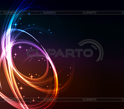 Stylized abstract background with glowing lines | Stock Vector Graphics |ID 3169936
