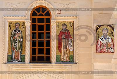 Мозаичные иконы в греческой православной церкви | Фото большого размера |ID 3106107