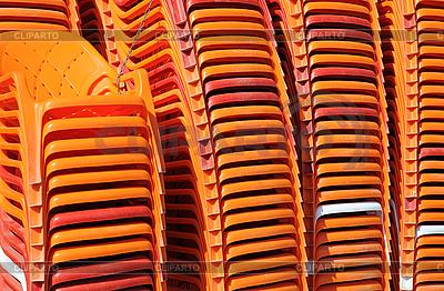 Plastikstühle | Foto mit hoher Auflösung |ID 3106173