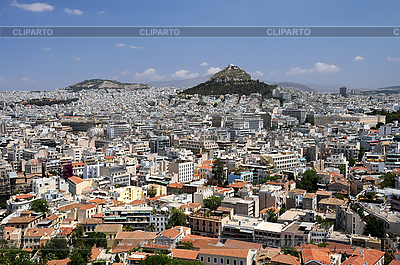 View of Lycabettus Hill in Athens | High resolution stock photo |ID 3106242