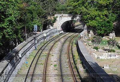 Railroad Tracks in Greece   High resolution stock photo  ID 3107370