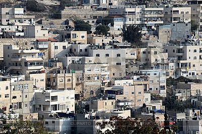Arabisches Bezirk Silwan in Jerusalem   Foto mit hoher Auflösung  ID 3108240