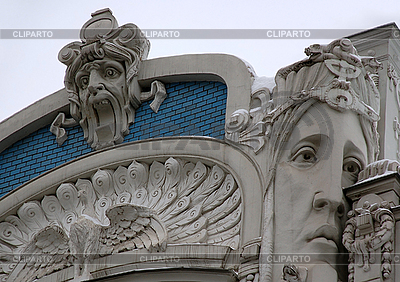 Detali of Art Nouveau on the Building | 높은 해상도 사진 |ID 3108751