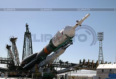 Sojus-Rakete Montage auf der Startturm | Foto mit hoher Auflösung |ID 3115778