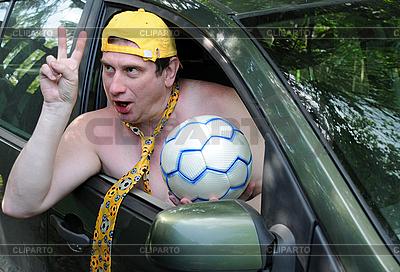 Feiern vom Fußball-Gewinn   Foto mit hoher Auflösung  ID 3118382