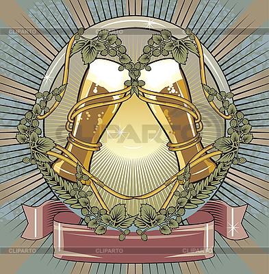 Etykieta piwa | Stockowa ilustracja wysokiej rozdzielczości |ID 3088748