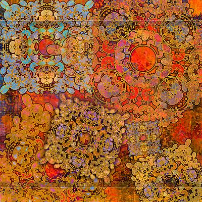 Exotischer orangefarbener orientalischer Hintergrund | Illustration mit hoher Auflösung |ID 3158898