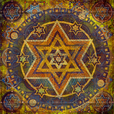 Geometric pattern with Star of David | High resolution stock illustration |ID 3247168