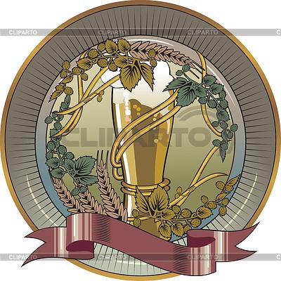 Beer glass, beer label | Stock Vector Graphics |ID 3305306