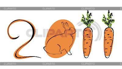Kaninchen und Möhre | Stock Vektorgrafik |ID 3083985