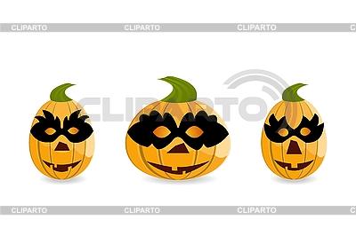 Kürbisse in Masken | Stock Vektorgrafik |ID 3084007