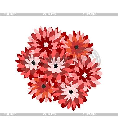Bukiet kwiatów aster | Klipart wektorowy |ID 3084031