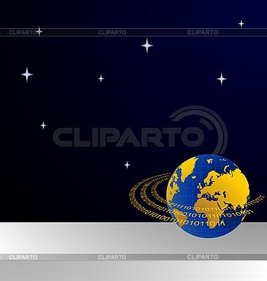Data stream around the globe | Stock Vector Graphics |ID 3084208