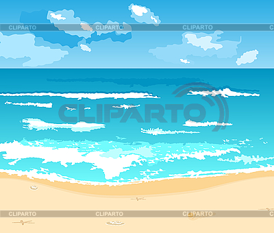 Beautiful summer background with beach | Stock Vector Graphics |ID 3084788