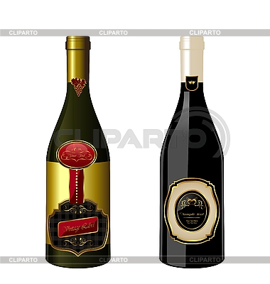 Set of wine bottles with label | Stock Vector Graphics |ID 3084892