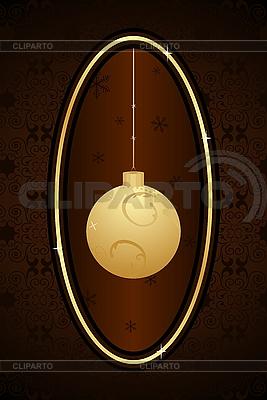 Weihnachtskarte mit einer Kugel | Stock Vektorgrafik |ID 3085003
