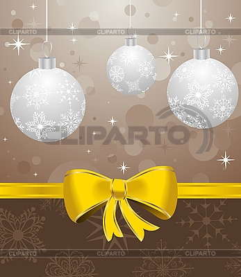 Christmas background with balls | Stock Vector Graphics |ID 3085033